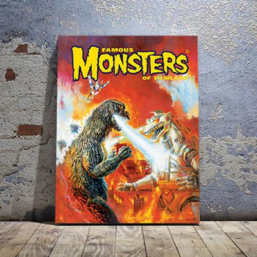 Godzilla VS Mechagodzilla Canvas Print