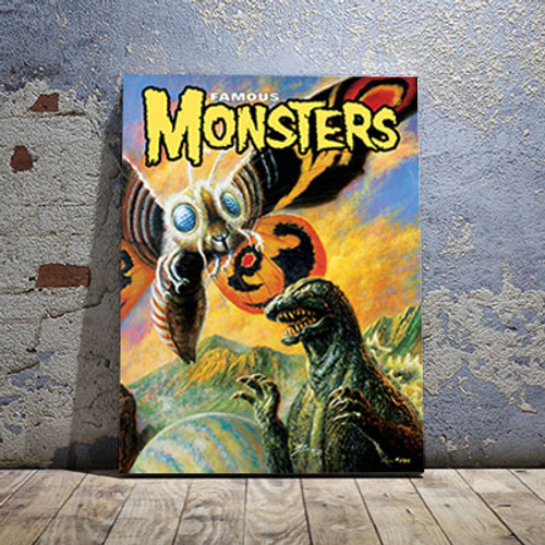 Godzilla VS Mothra Canvas Print