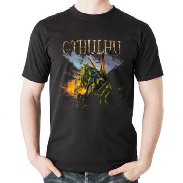Green Cthulhu T-shirt