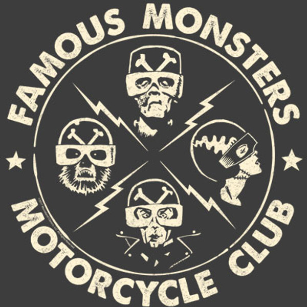Famous Monsters Motorcycles Club Gang Grey Tee