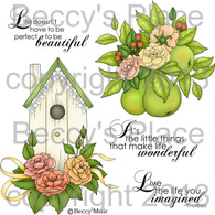 Shabby Chic Roses digital stamps