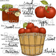 Apple Butter digital stamps