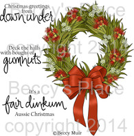 Aussie Wreath digital stamps