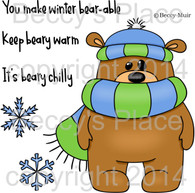 Winter Stanley digital stamps