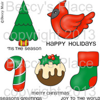 Simply Christmas digital stamps