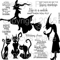 Witching Hour digital stamps