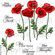 Poppies digital stamps
