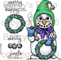 Mr. Snowflake digital stamps