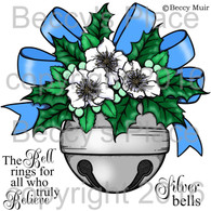 Silver Bell digital stamps