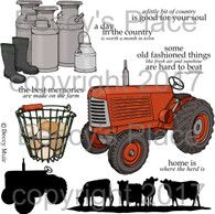 Farm Fresh digital stamps