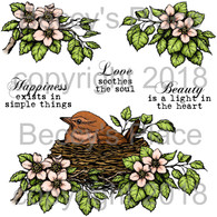 Feathered Nest digital stamps