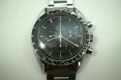 Omega 145022 Speedmaster  with bracelet & tropical dial dates 1969 for sale houston fabsuisse