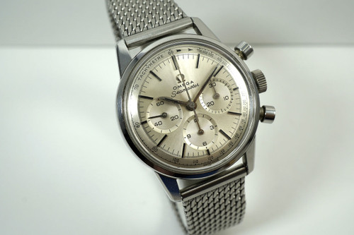 Omega 105.004 SeaMaster chronograph stainless steel mint Dates 1964 pre owned for sale houston fabsuisse