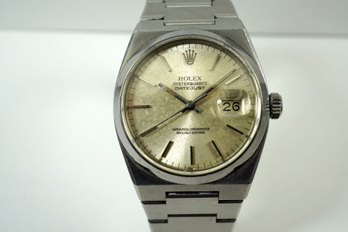 Rolex 17000 Datejust Oyster quartz stainless steel non running dates 1980's for sale houston fabsuisse