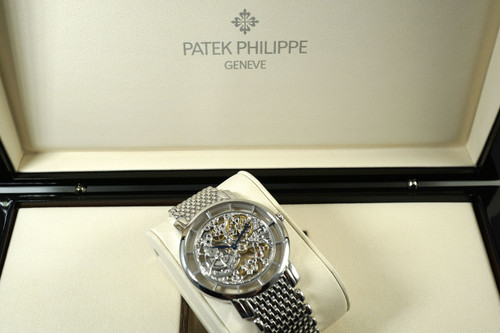Patek Phillippe 5180/1G Skeleton Complete box, books & papers dates 2017 for sale houston fabsuisse