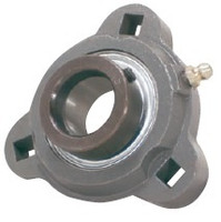 "1-3/8"" Three Bolt Flange Bearing W/ Lock Collar SATRD207-22G"