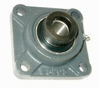 "1-1/8"" Four Bolt Flange Bearing W/ Lock Collar HCFS206-18"