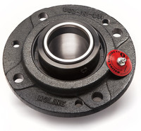"3-7/16"" M2000 Heavy Duty Four Bolt Piloted Flange Bearing"
