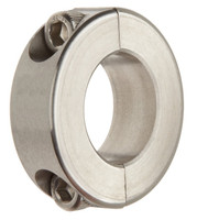 "1-1/2"" Stainless Steel Double Split Shaft Collar"