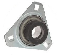 "1-1/4"" Pressed Steel Three Bolt Flange Bearing W/ Lock Collar SASTR206-20"