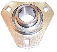 "1/2"" Pressed Steel Three Bolt Flange Bearing SBSTR201-08"