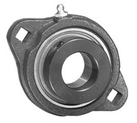 "1/2"" Ductile Iron Two Bolt Flange Bearing W/ Lock Collar SAFTD201-08G"