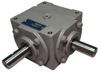 40 HP Right Angle Bevel Gearbox w/Crosshole & Keyed Shaft CW/CCW 1:1