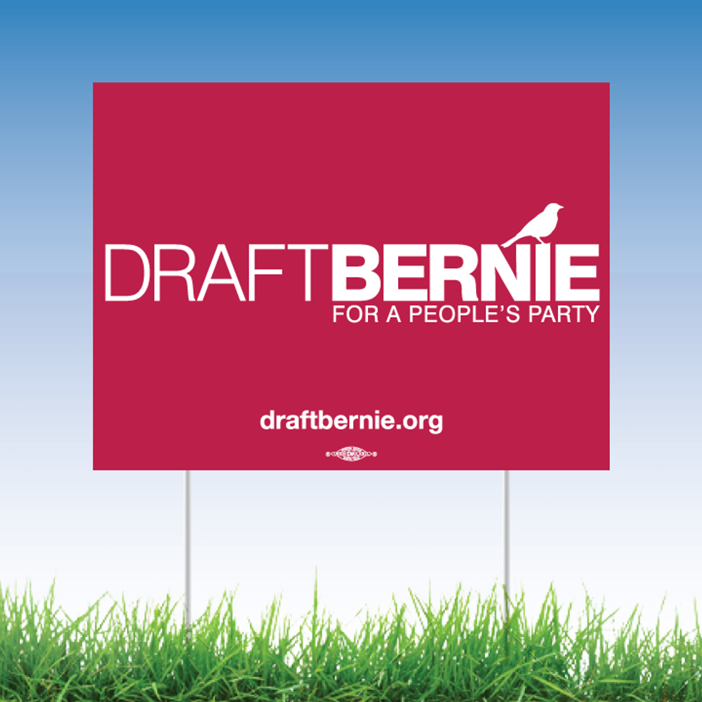 "Draft Bernie Official Logo (24"" x 18"" Coroplast Yard Sign)"