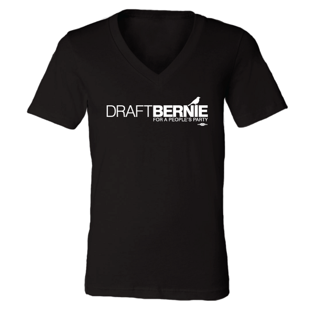 Draft Bernie Official Logo (Black V-Neck)
