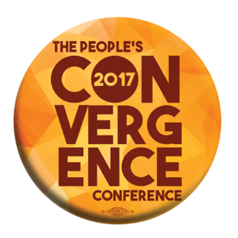 People's Convergence Conference Button -- Pack of Two