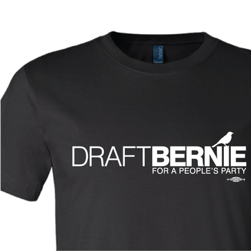 Draft Bernie Official Logo (Black Tee)