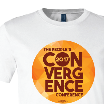 People's Convergence Conference Stacked Logo (on White Tee)