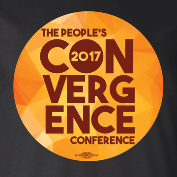 People's Convergence Conference Stacked Logo (on Black Tee)