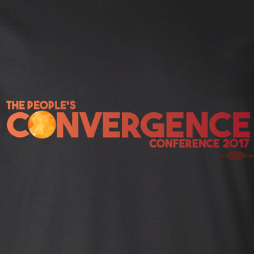People's Convergence Conference Horizontal Logo (on Black Tee)
