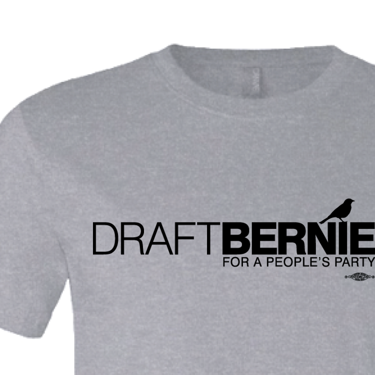 Draft Bernie Official Logo (Dark Ash Tee)
