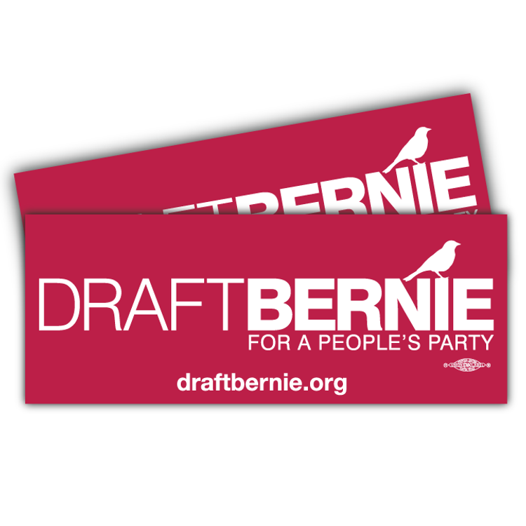 Draft Bernie Official Logo Burgundy Sticker (Two-Pack)