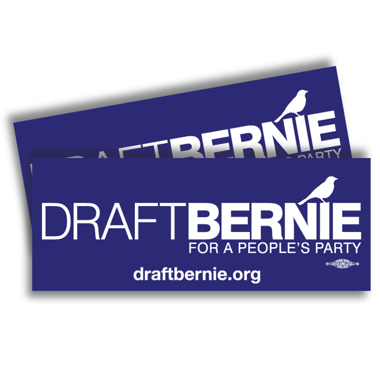 Draft Bernie Official Logo Navy Blue Sticker (Two-Pack)