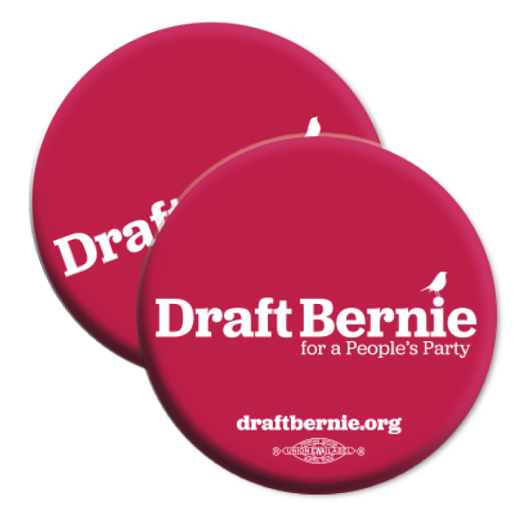 Draft Bernie Retro Logo Button (Two-Pack)