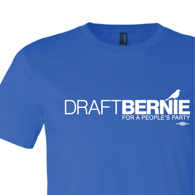 Draft Bernie Official Logo (Royal Tee)