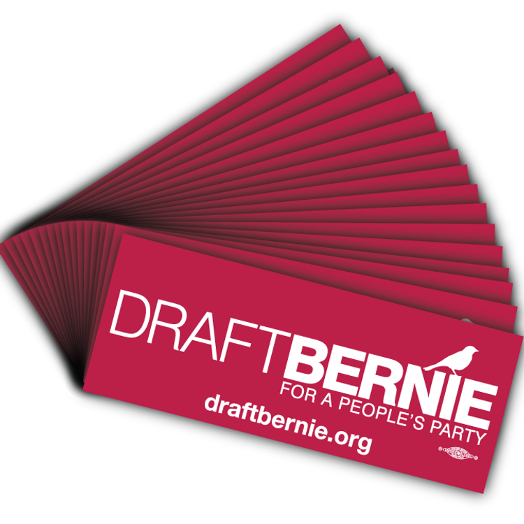 Draft Bernie Official Logo, Burgundy Vinyl Sticker (25-Pack)