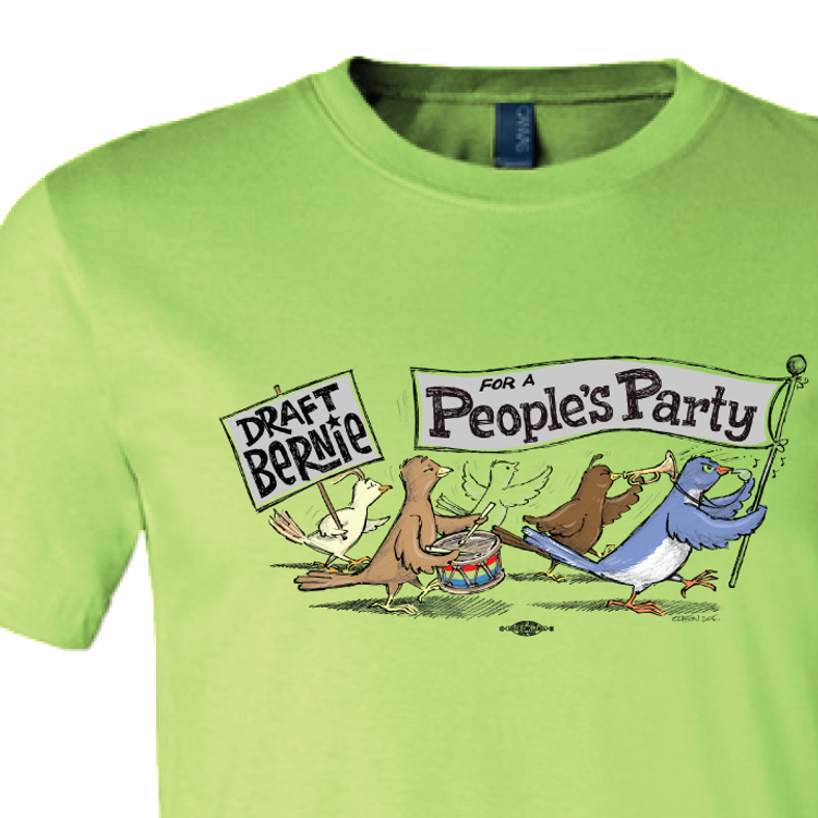 Birdie Parade (Lime Green Tee)