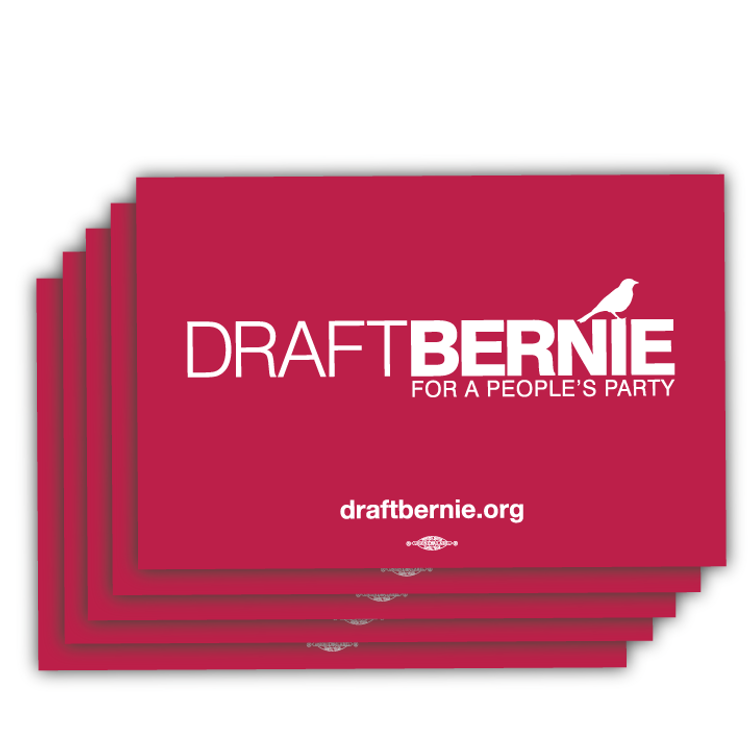 "Draft Bernie Rally Sign - 18"" x 12"" Cardstock  (25 Pack)"