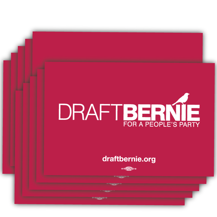 "Draft Bernie Rally Sign - 18"" x 12"" Cardstock  (50 Pack)"