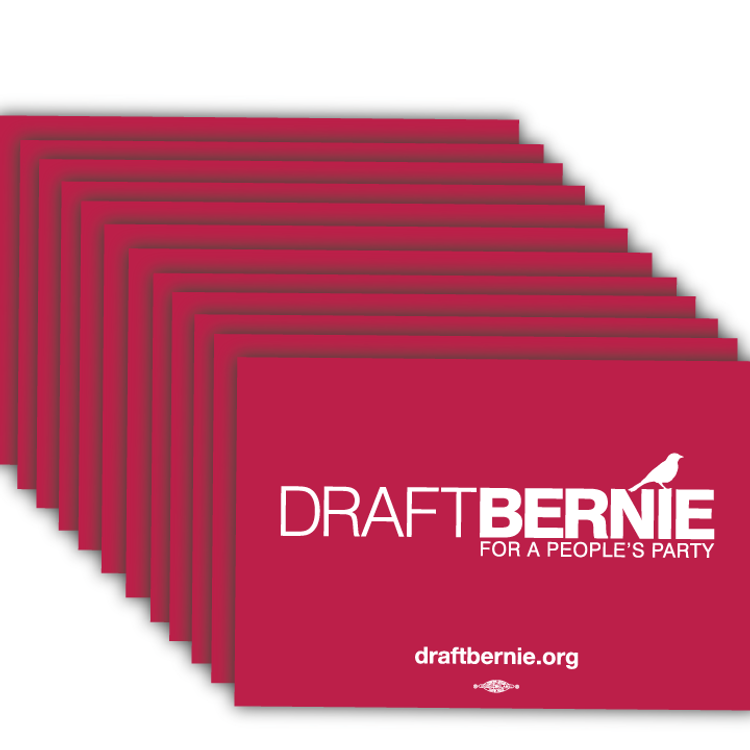 "Draft Bernie Rally Sign - 18"" x 12"" Cardstock  (100 Pack)"