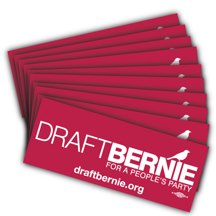 Draft Bernie Official Logo, Burgundy Vinyl Sticker (10-Pack)