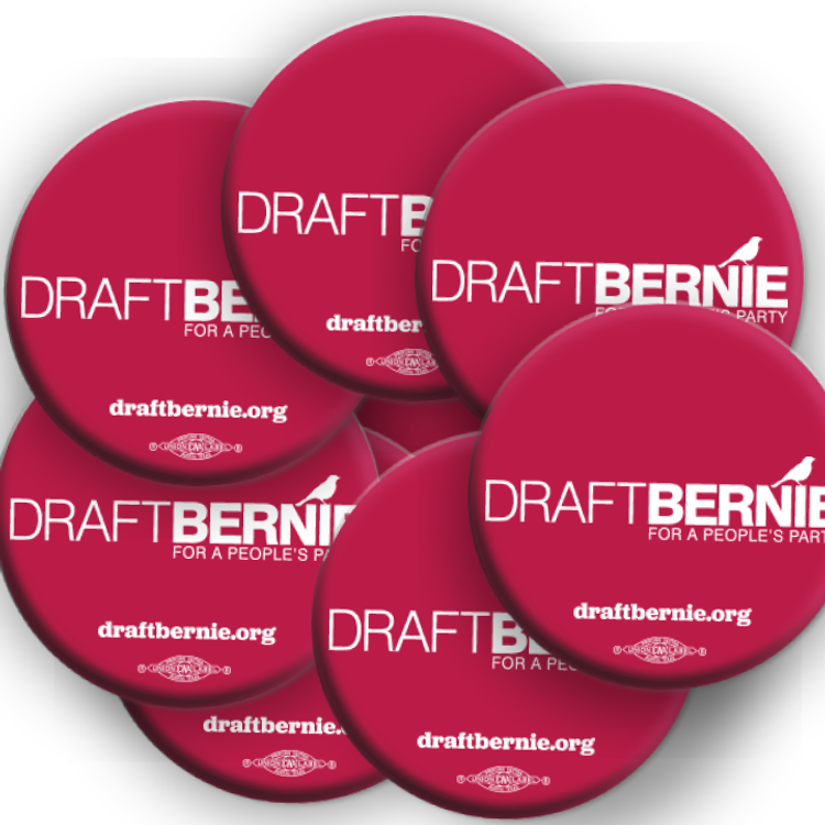Draft Bernie Official Logo Button (10-Pack)