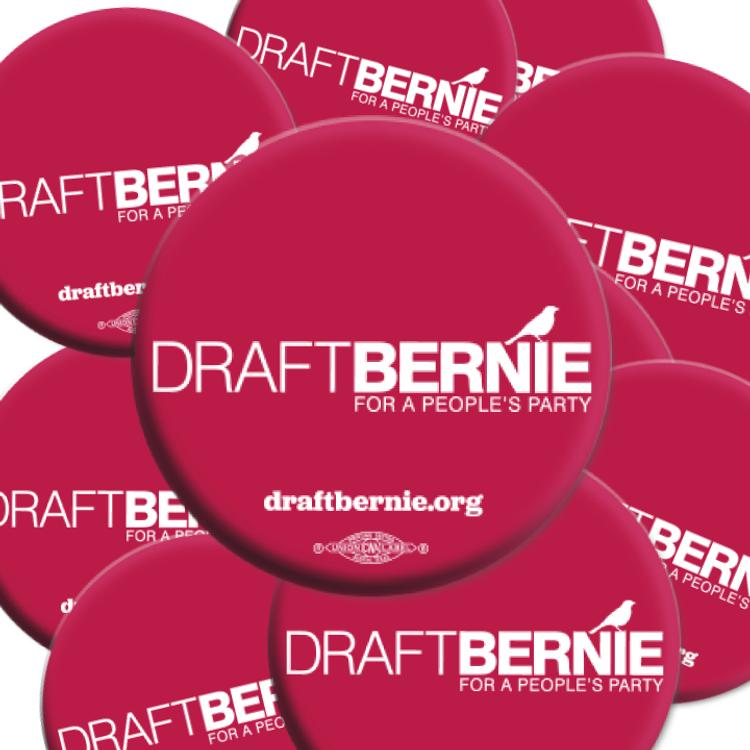 Draft Bernie Official Logo Button (25-Pack)