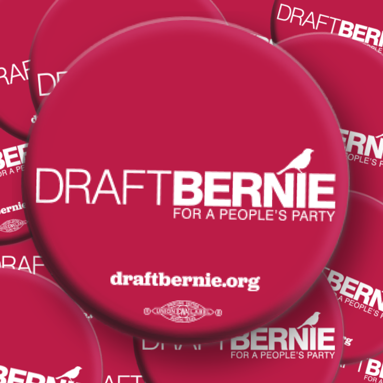 Draft Bernie Official Logo Button (50-Pack)
