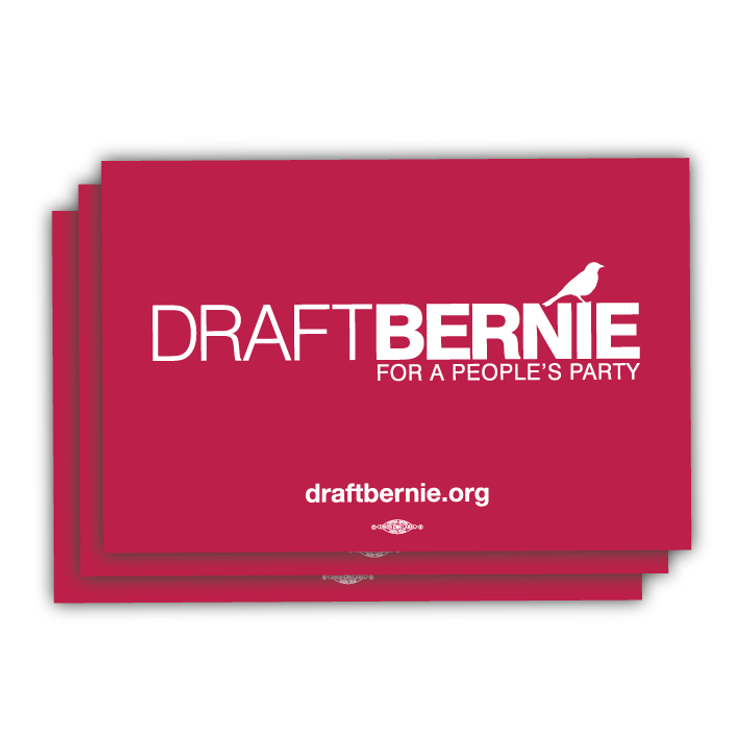 "Draft Bernie Rally Sign - 18"" x 12"" Cardstock (10 Pack)"