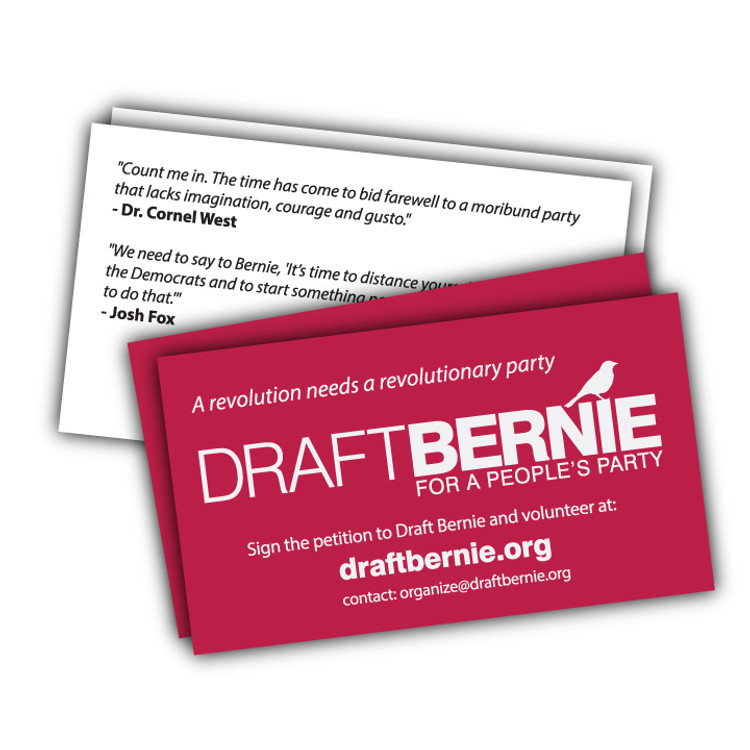 Draft Bernie Business Card -- 100-Pack